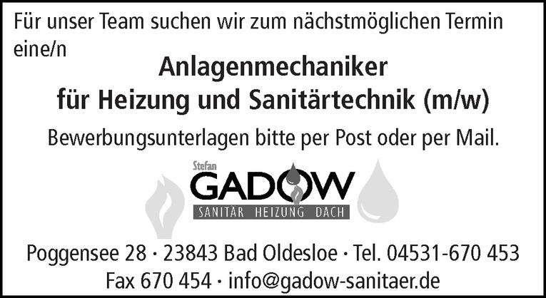 Anlagenmechaniker für Heizung und Sanitärtechnik (m/w)