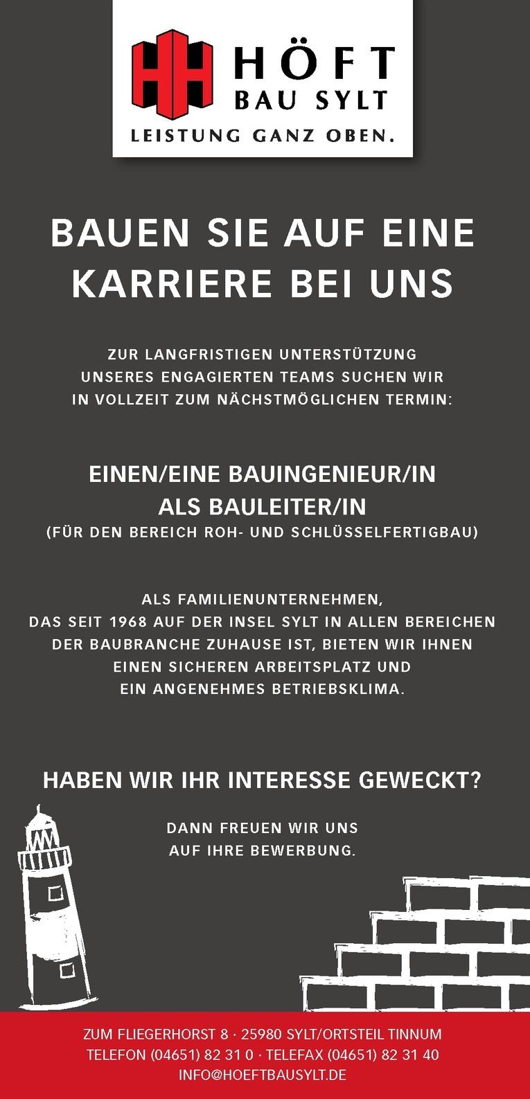 BAUINGENIEUR/IN ALS BAULEITER/IN
