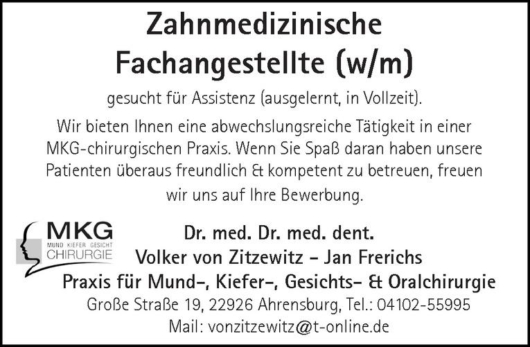Zahnmedizinische Fachangestellte (w/m)