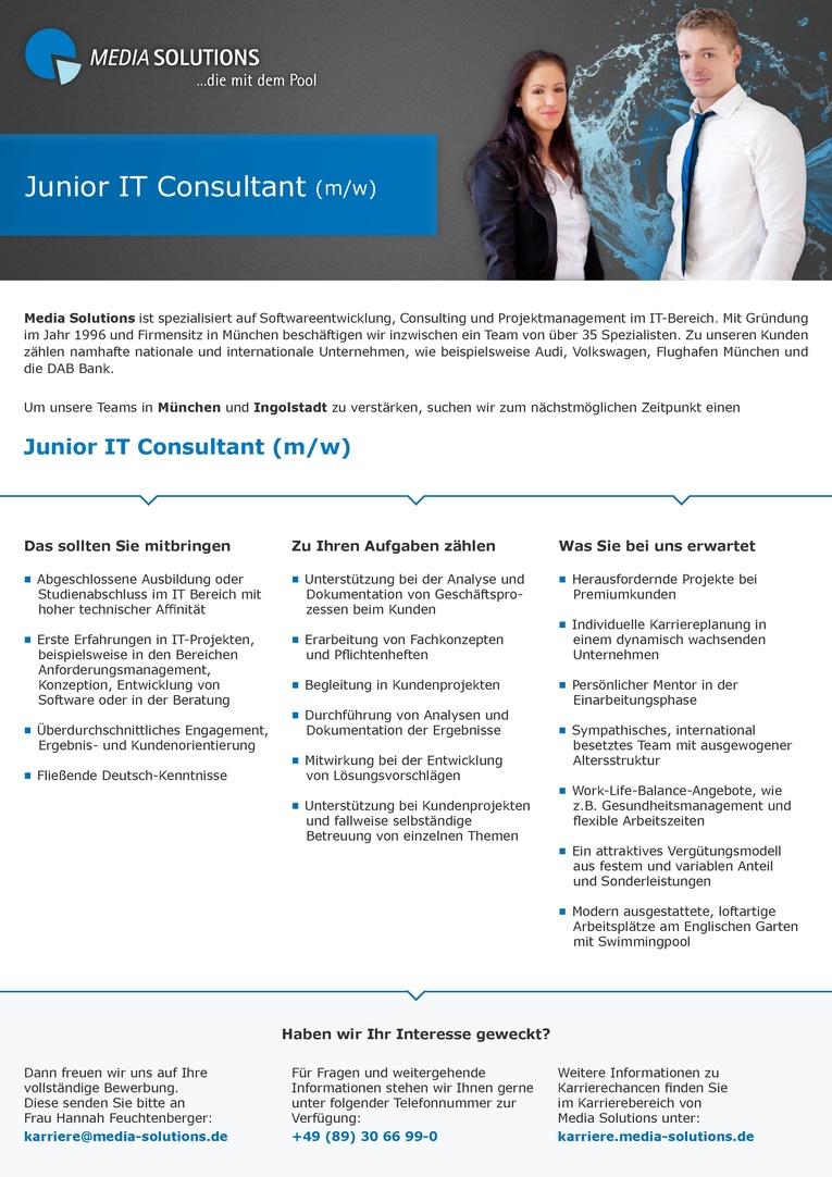Junior IT Consultant (m/w)