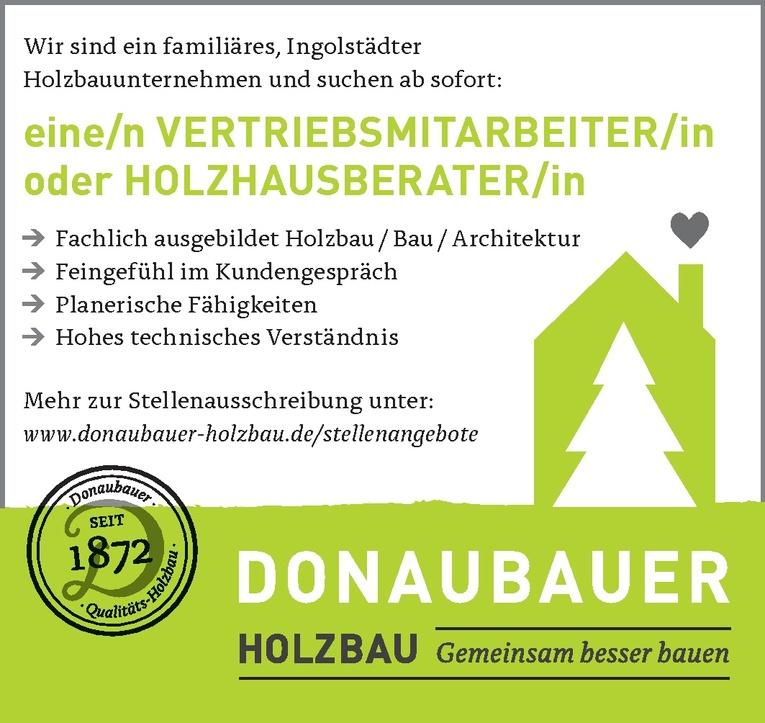 Holzhausberater / Vertriebsmitarbeiter