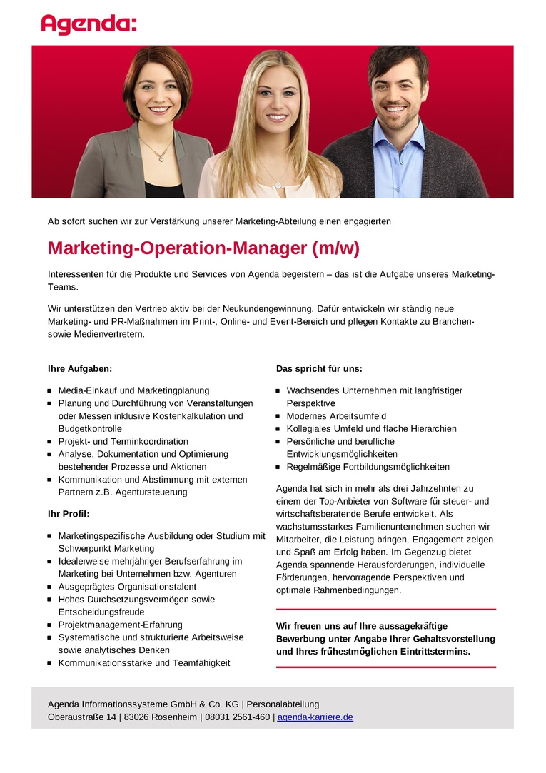 Marketing-Operation-Manager (m/w)