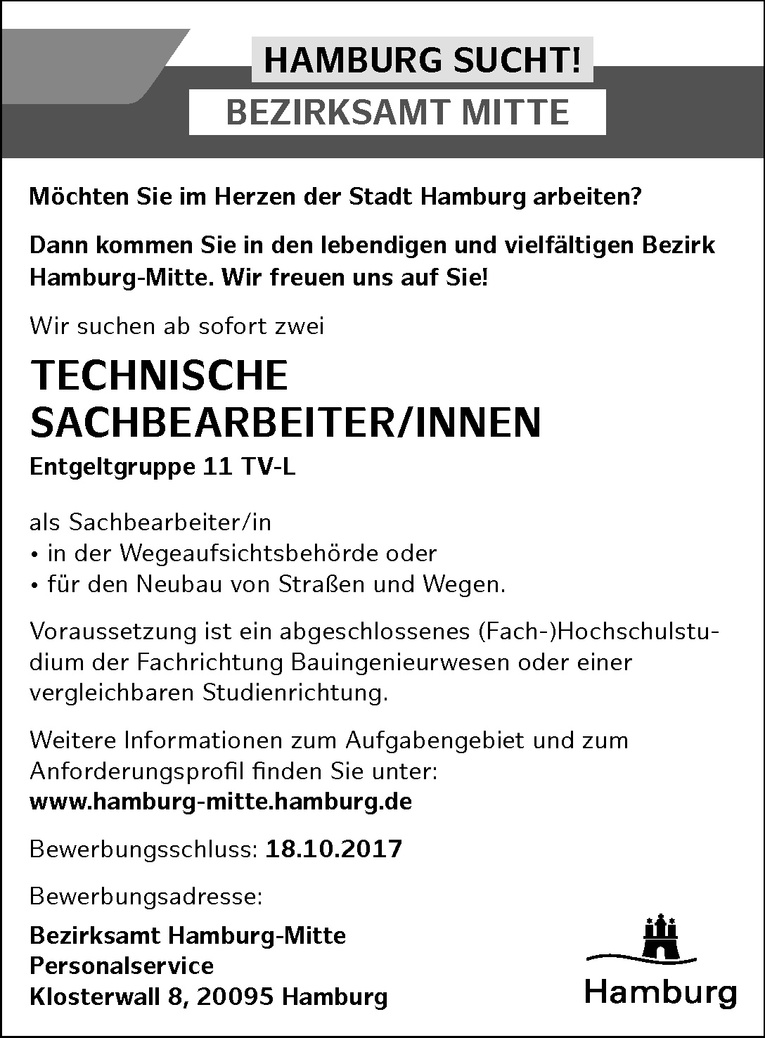 TECHNISCHE SACHBEARBEITER/INNEN