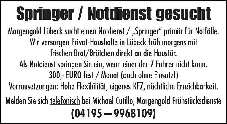 Notdienst / Springer