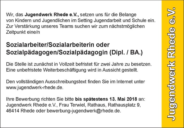 Sozialarbeiter / Sozialpädagoge (m/w)