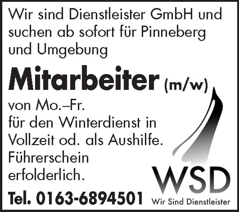 Mitarbeiter (m/w) Winterdienst