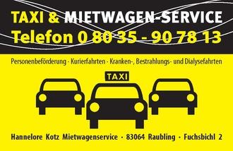 Kotz Hannelore Taxi - Mietwagenservice