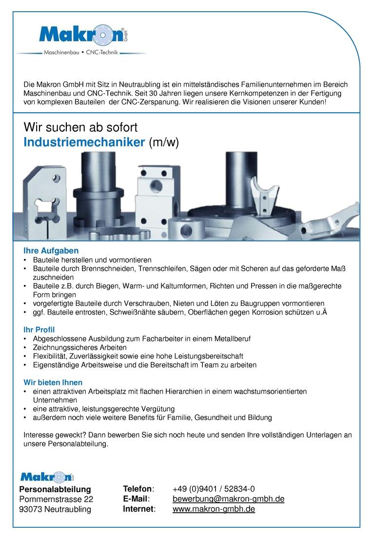 Industriemechaniker (m/w)