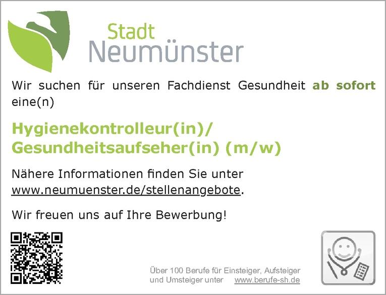 Hygienekontrolleur(in)/Gesundheitsaufseher(in) (m/w)