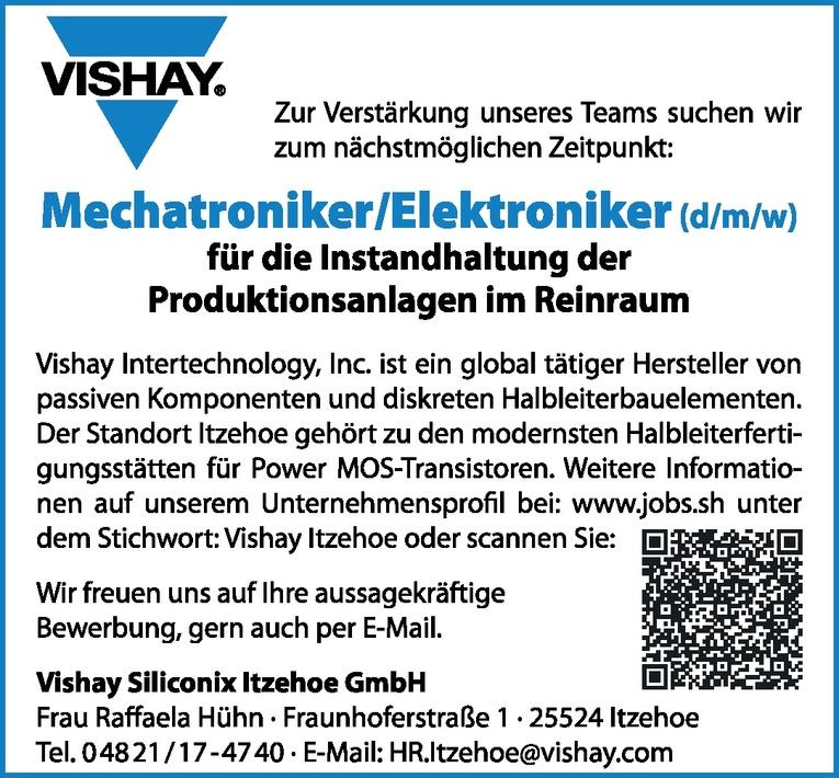 Mechatroniker/Elektroniker (d/m/w)