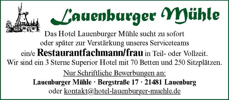 Restaurantfachmann/frau