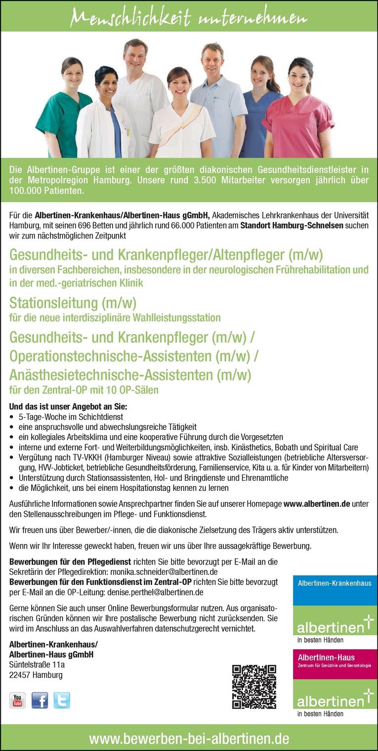 Gesundheits- und Krankenpfleger / Operationstechnische- Anästhesietechnische-Assistenten (m/w)