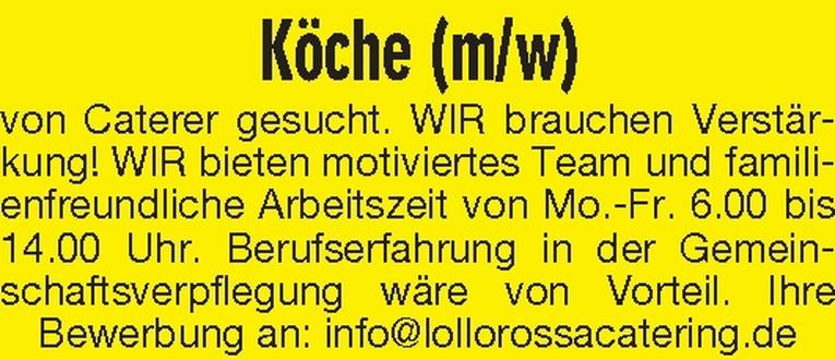 Köche (m/w)