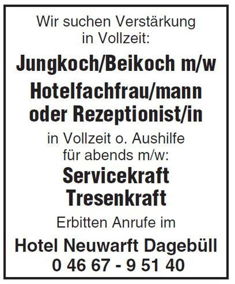 Hotelfachfrau/mann oder Rezeptionist/in