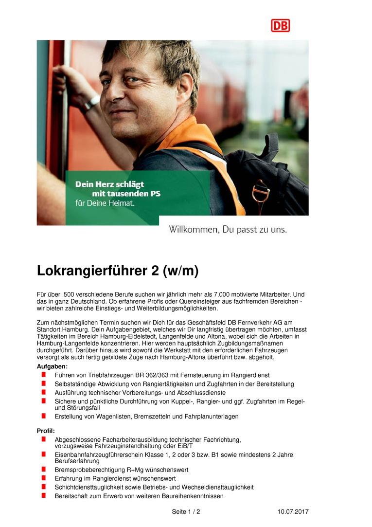 Lokrangierführer (m/w)
