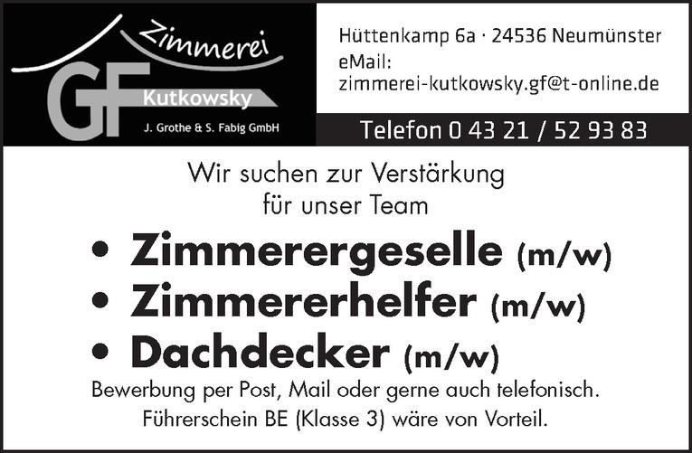Dachdecker (m/w)
