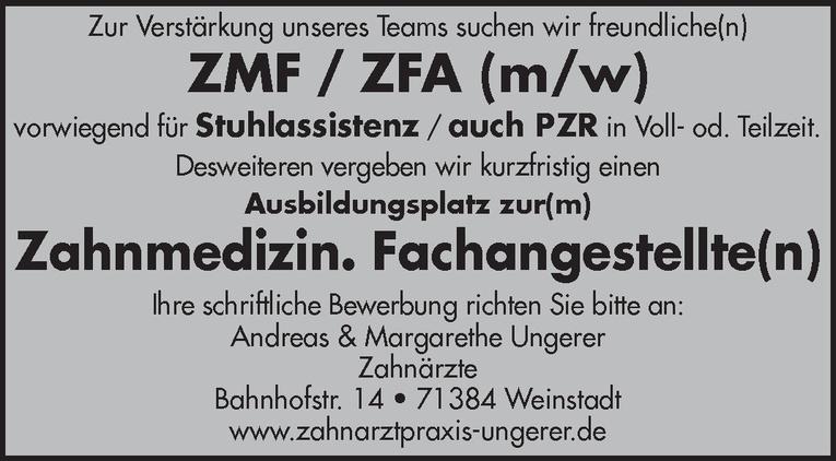 ZMF / ZFA (m/w)