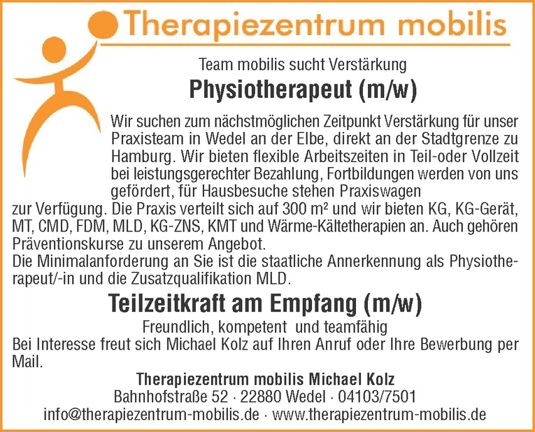 Physiotherapeut (m/w)