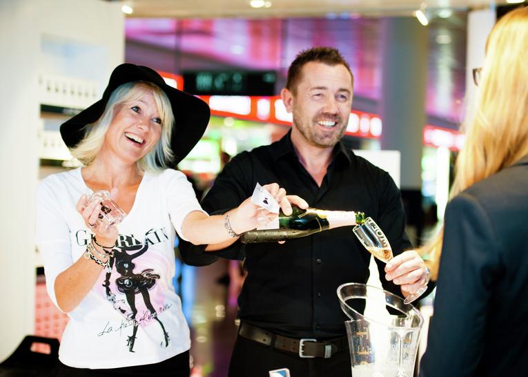 Promotion am Flughafen