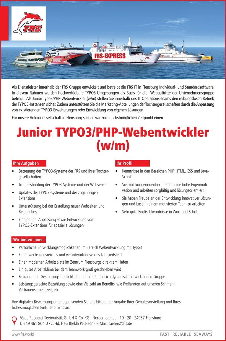 Junior TYPO3/PHP-Webentwickler (w/m)