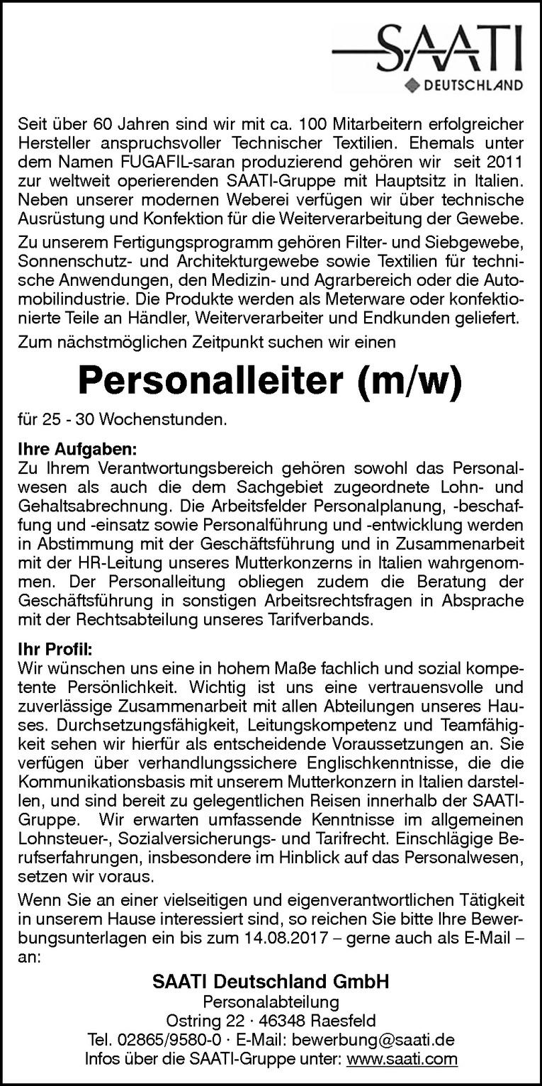 Personalleiter (m/w)