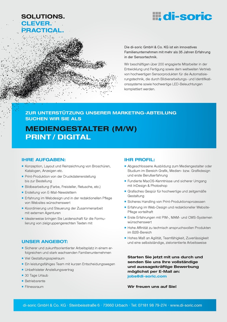 MEDIENGESTALTER (M/W) PRINT / DIGITAL