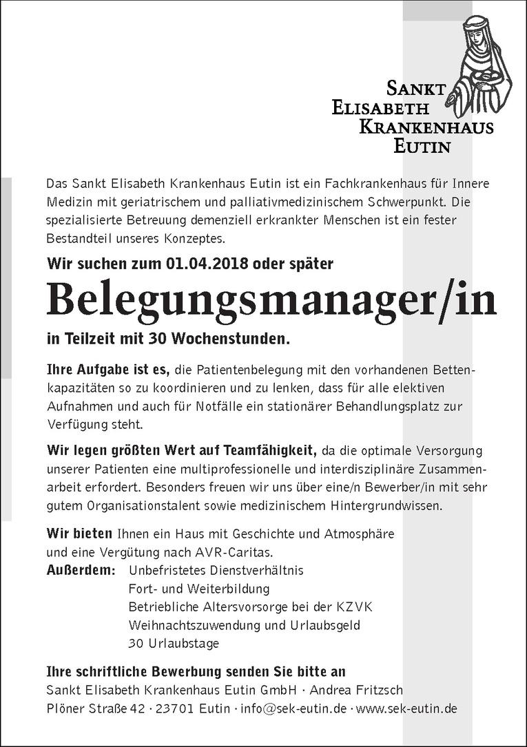 Belegungsmanager/in