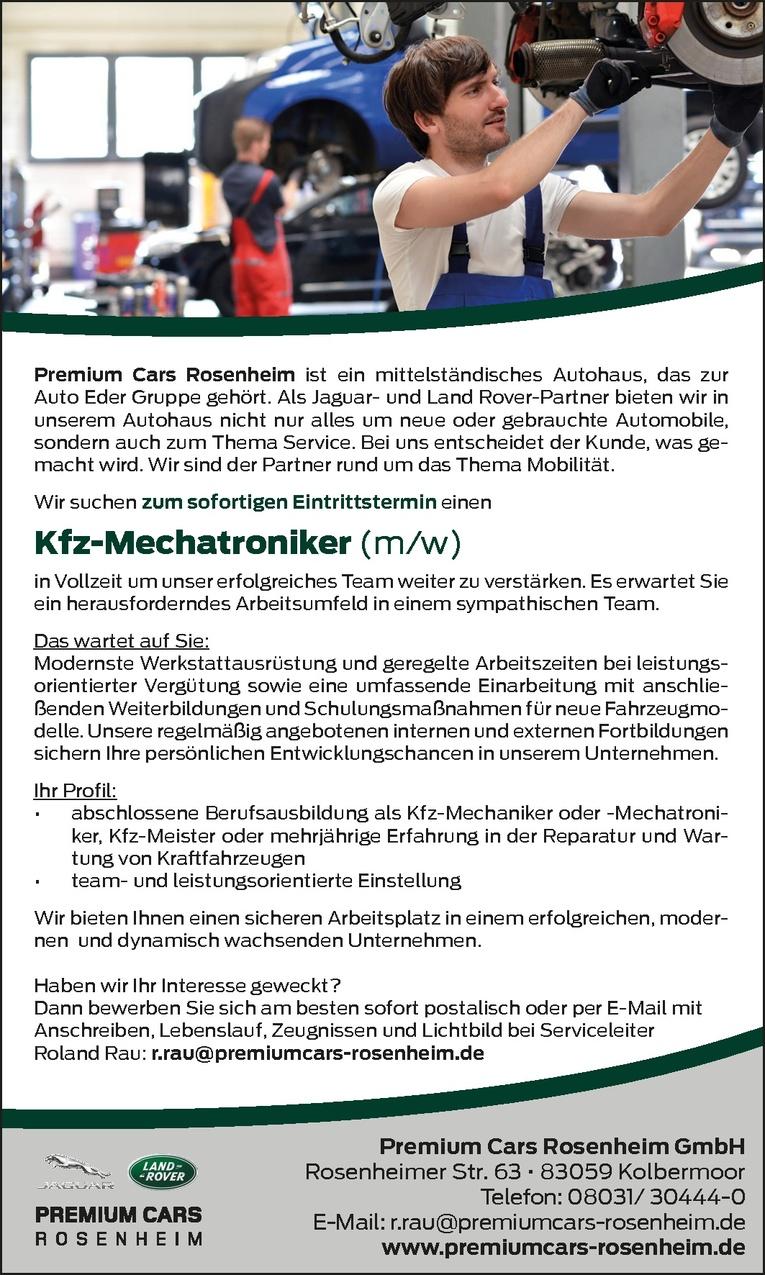 Kfz-Mechatroniker Jaguar & Land Rover (m/w)