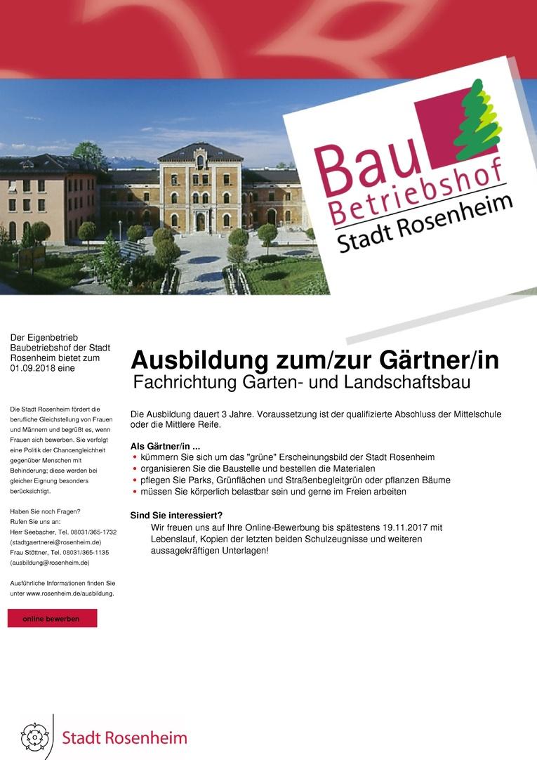 Ausbildung zum/zur Gärtner/in