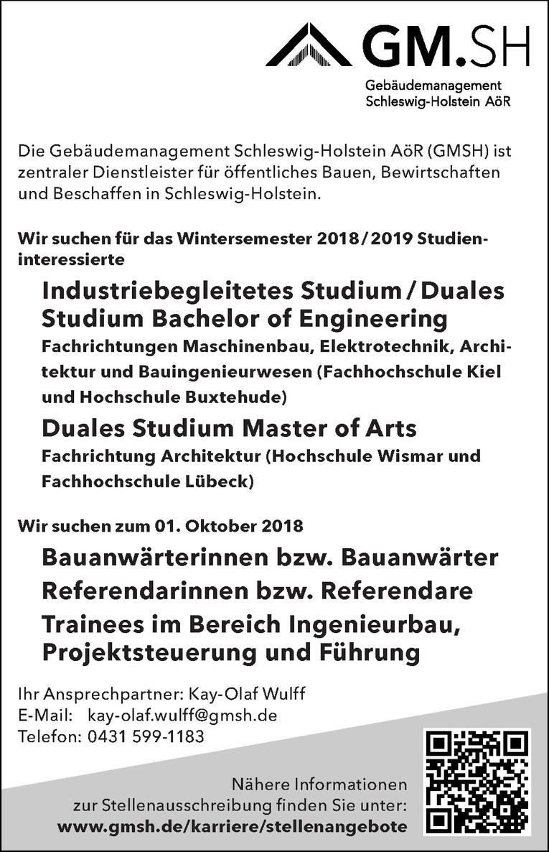 Industriebegleitetes Studium / Duales Studium Bachelor of Engineering Architektur und Bauingenieurwesen