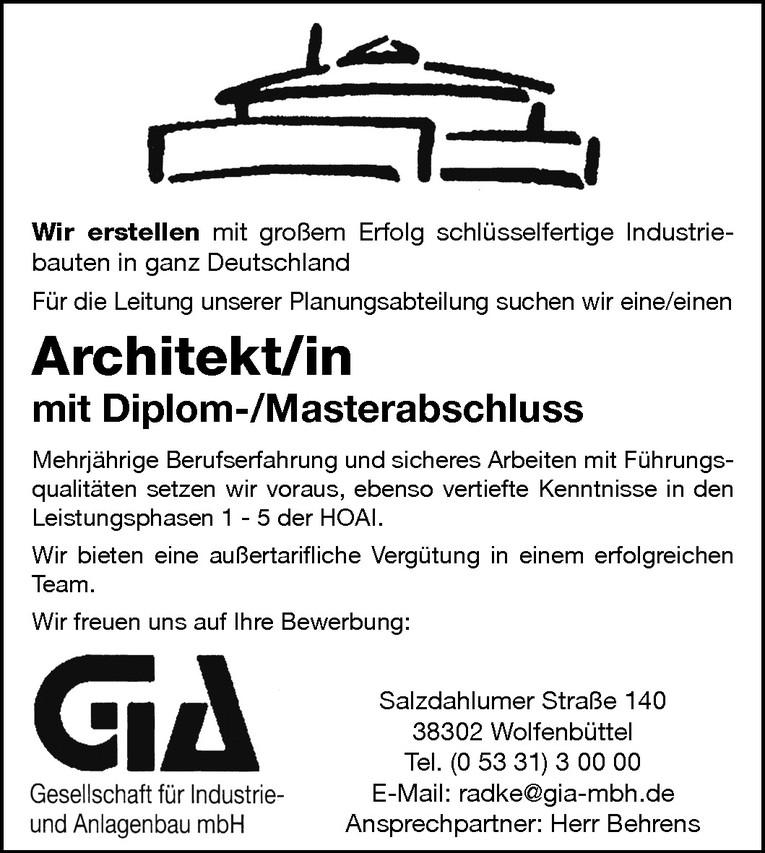 Architekt (m/w)