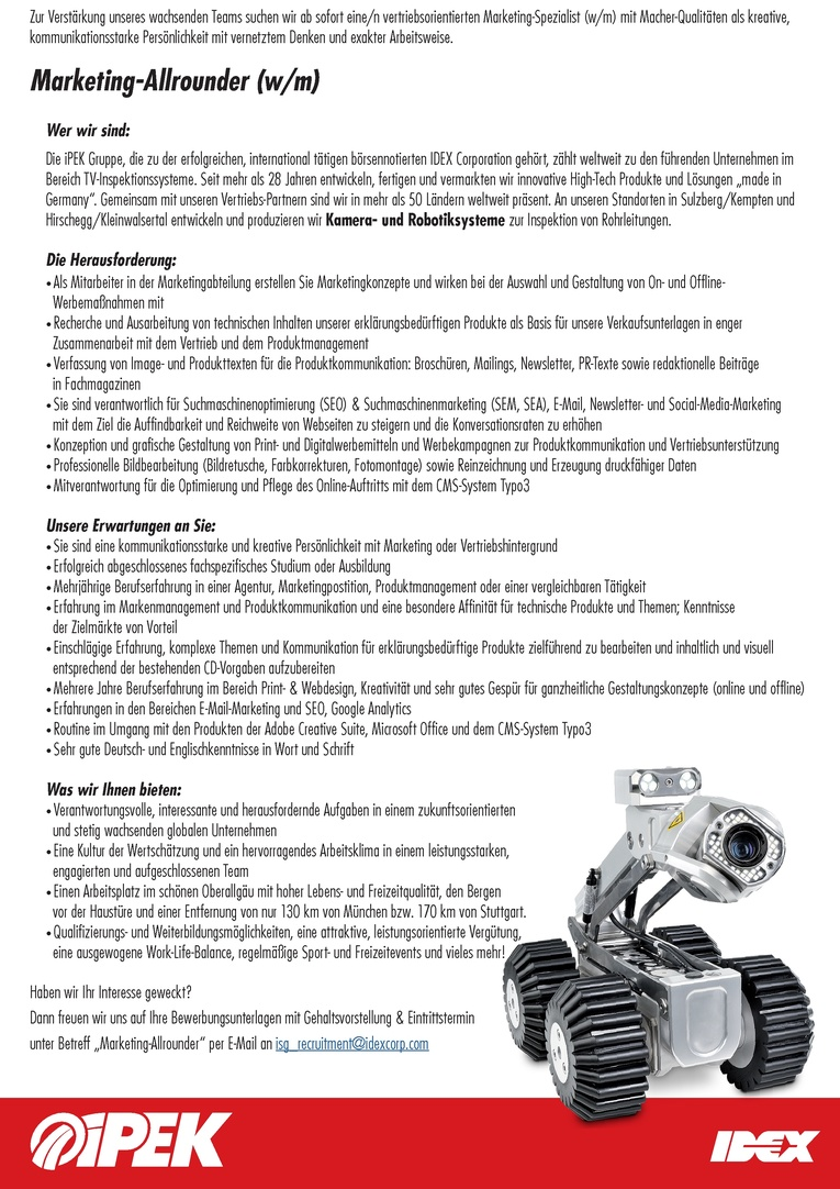 Marketing-Allrounder (m/w)