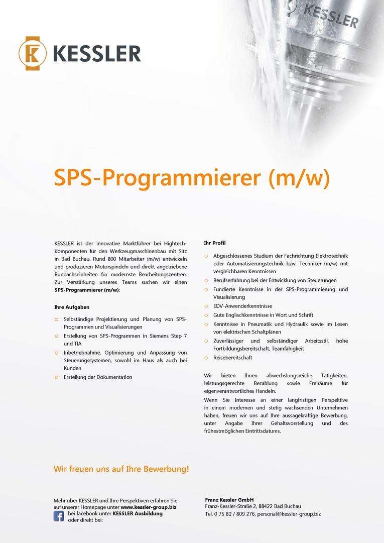 SPS-Programmierer (m/w)