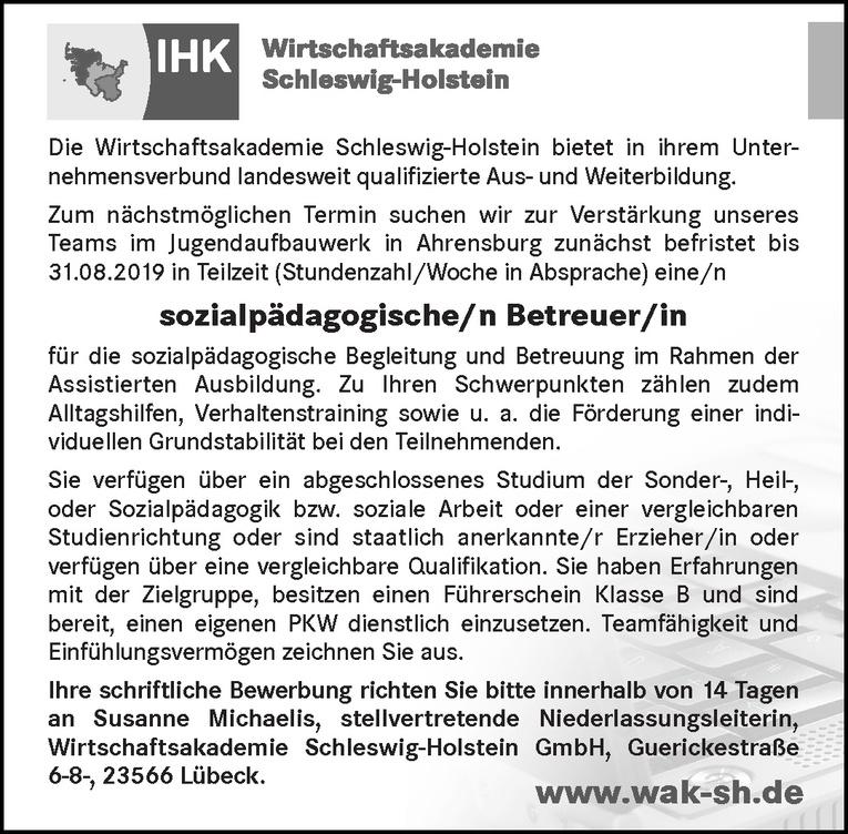 sozialpädagogische/n Betreuer/in