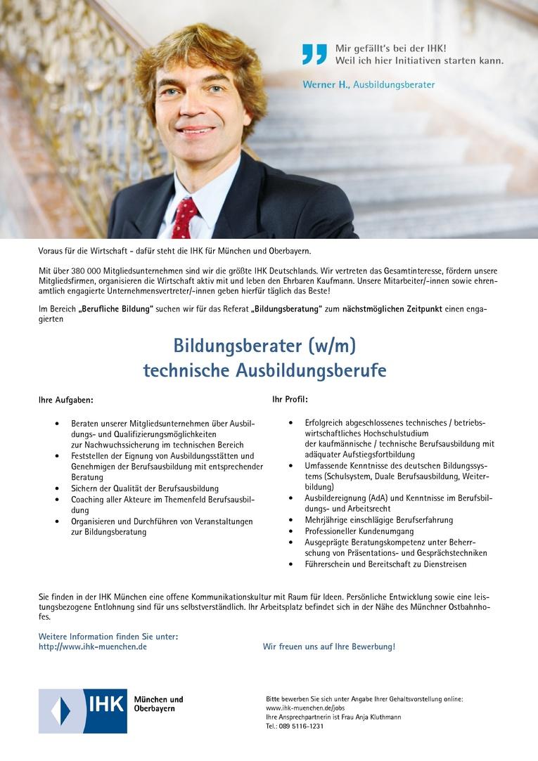 Bildungsberater (w/m) technische Ausbildungsberufe