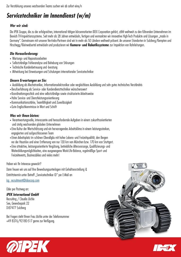Servicetechniker im Innendienst (m/w)