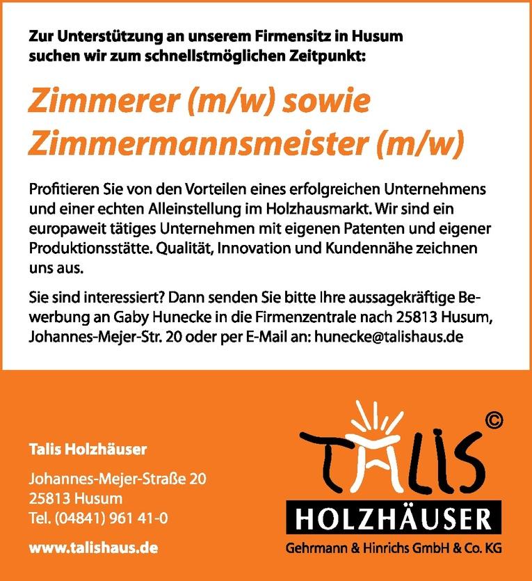 Zimmerer (m/w)
