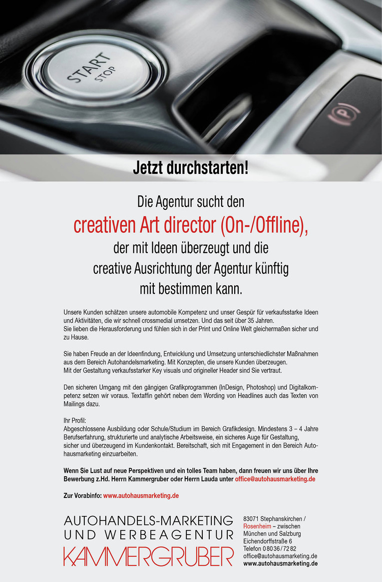 Creativer Art director (On-/Offline)