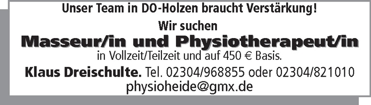Physiotherapeut m/w