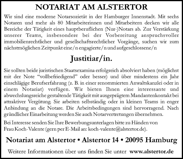 Justitiar/in
