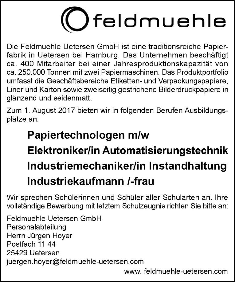 Ausbildung: Papiertechnologen m/w