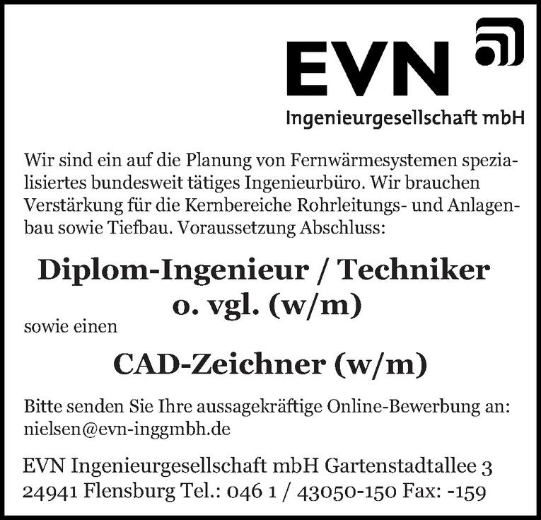 Diplom-Ingenieur / Techniker o. vgl. (w/m)