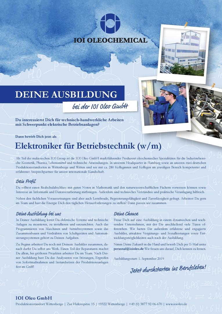 Job Ausbildung Zum Elektroniker Für Betriebstechnik Wm