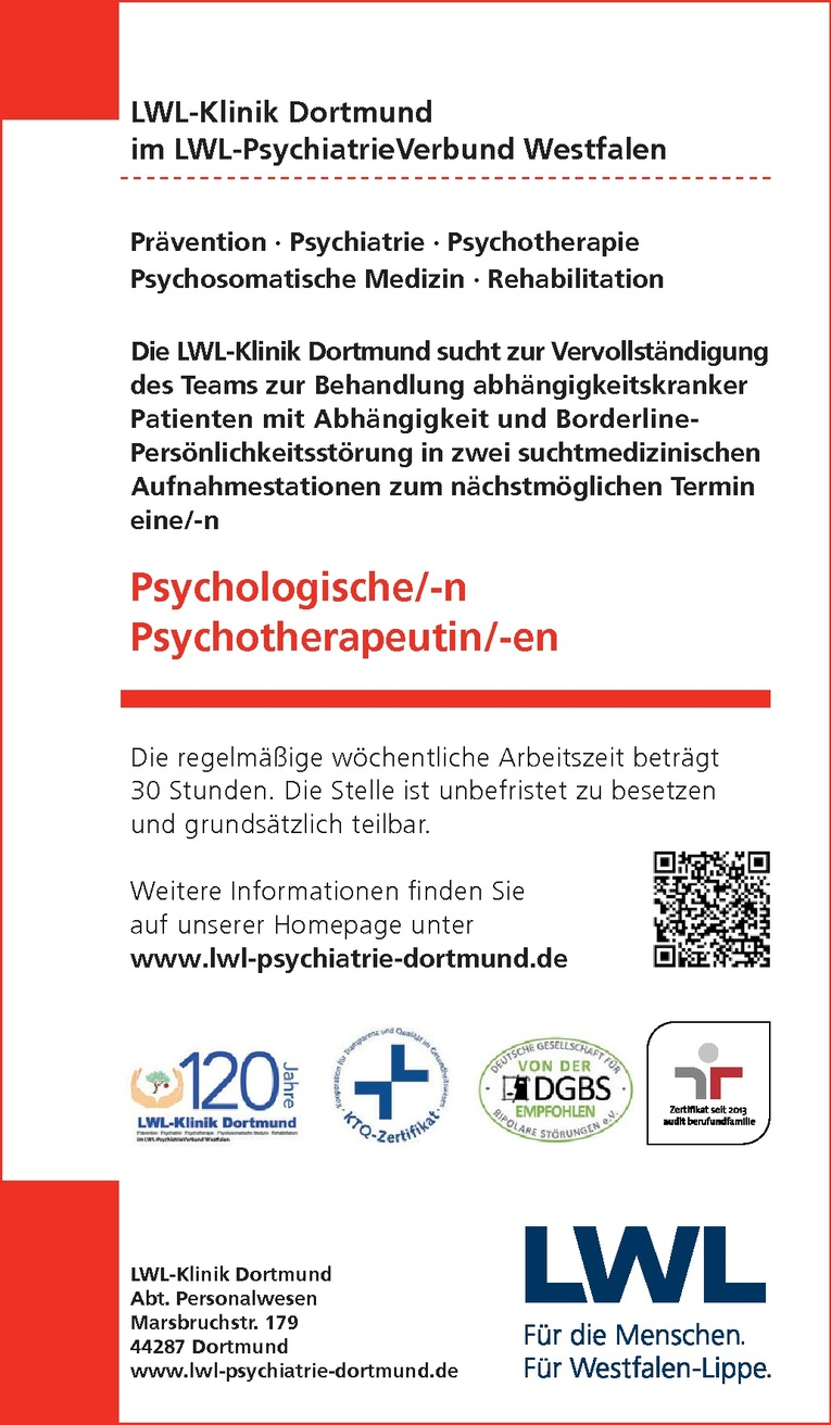 Psychologische/-n Psychotherapeutin/-en