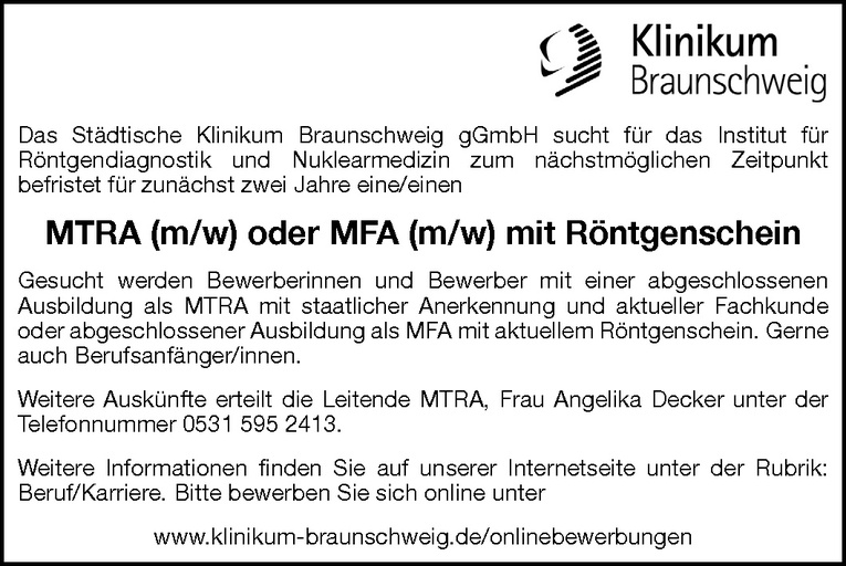 MTRA / MFA (m/w)