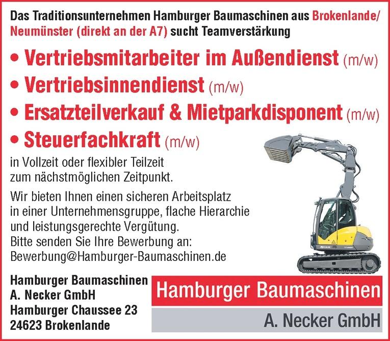Mitarbeiter (m/w) Ersatzteilverkauf & Mietparkdisponent