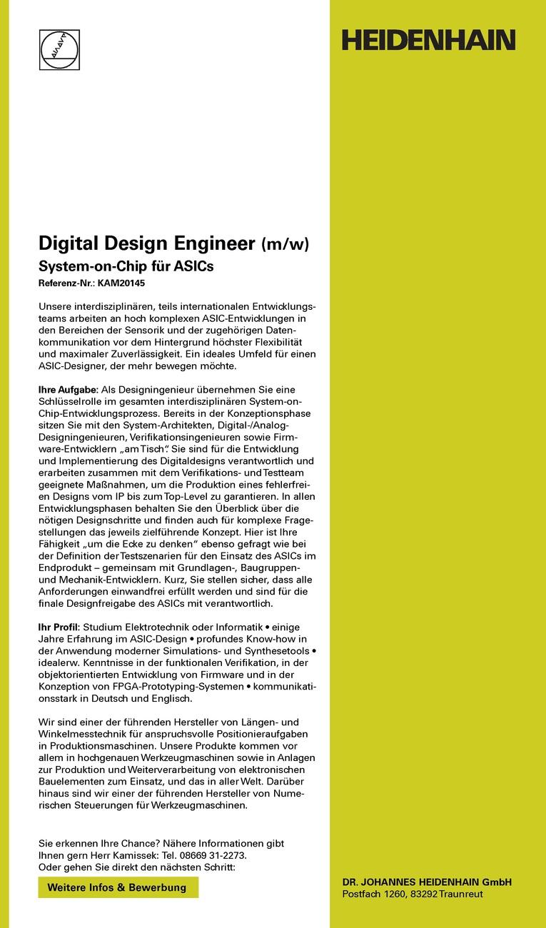 Digital Design Engineer (m/w)