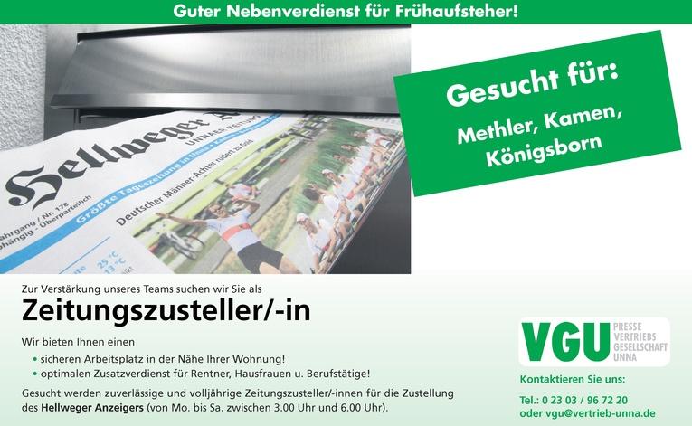 Zeitungszusteller/-in