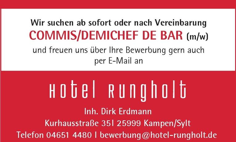 Commis/Demichef De Bar (m/w)
