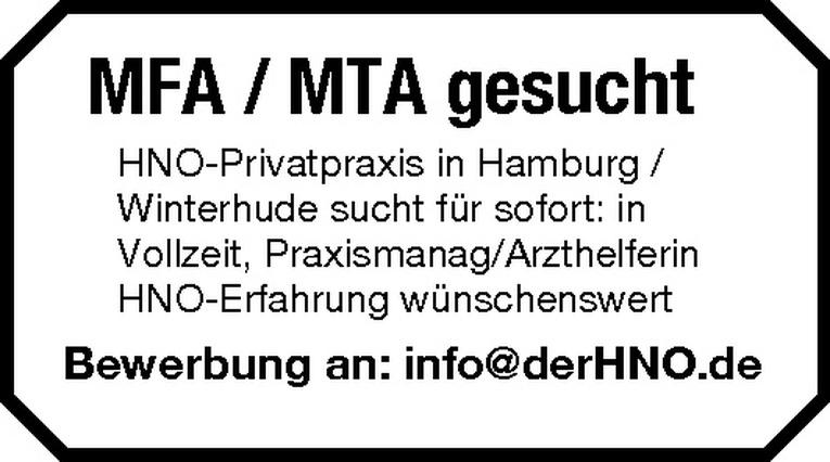 MFA / MTA (m/w)